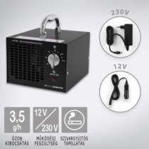 OZONEGENERATOR Black 3500 ózongenerátor készülék, szivargyújtós tápellátással kiegészítve