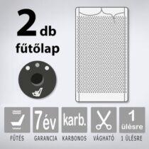 KIYO karbonszálas beépíthető ülésfűtés 3 fokozatú nyomógombbal, 1 ülésre