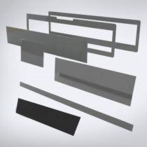 Speciális perspex lap lézeres jelzőkészülék rejtéshez: 504 mm x 47 mm