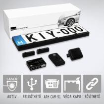 KIYO D Ultimate AP 2: Aktív lézeres traffipaxvédelmi termék 2 db rendszámtábla keretbe épített szenzorral első vagy hátsó lézeres védelem kialakítására, GPS adatbázissal