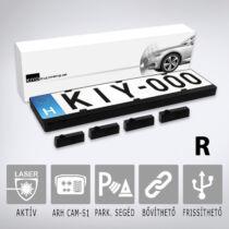 KIYO D Ultimate AP 4R: Aktív lézeres traffipaxvédelmi termék 4 db rendszámtábla keretbe épített szenzorral első vagy hátsó lézeres védelem, dupla kerettel