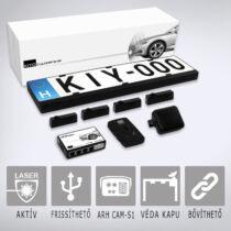 KIYO ULTIMATE AP 4 GPS: Komplett traffipaxvédelmi rendszer 4db rendszámkertbe építhető lézerszenzorral, GPS adatbázissal.