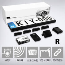 KIYO ULTIMATE AP 4R GPS RADAR: Komplett traffipaxvédelmi rendszer 4db rendszámkertbe építhető lézerszenzorral, GPS adatbázissal, radarmodullal és dupla kerettel.