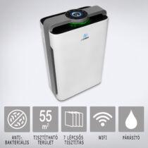 AIR2FRESH Antiviral Ultimate 55 smart légtisztító: 7 szűrési technológia, párásító, Wi-fi, max 55 m2-ig