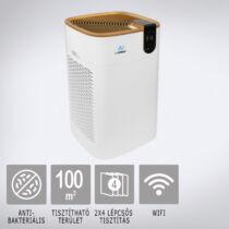 AIR2FRESH Antiviral Double Max 100 smart légtisztító: 2x4 szűrési technológia, PM 1.0 intelligens szenzor, Wi-fi, max 100 m2-ig