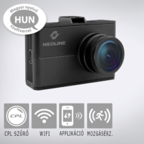 Neoline WIDE S61: Professzionális autós fedélzeti kamera kijelzővel, telefonnal vezérelhető