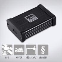 KIYO GPS M1: Motorkerékpárokhoz fejlesztett telepített traffipax előrejelző teljes Európa adatbázissal, LED visszajelzővel.