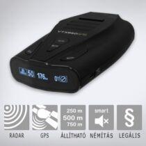 KIYO VTX950GPS: Szélvédőre rögzíthető radar- és lézerdetektor teljes Európa fix traffipax adatbázissal és magyar nyelvű beszédhanggal.