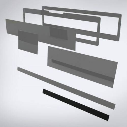 Speciális perspex lap lézeres jelzőkészülék rejtéshez: 505 mm x 30 mm