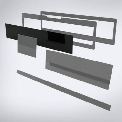 Speciális perspex lap lézeres jelzőkészülék rejtéshez: 505 mm x 95 mm