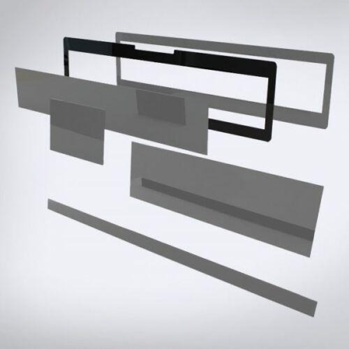 Speciális perspex lap lézeres jelzőkészülék rejtéshez: 536 mm x 148 mm