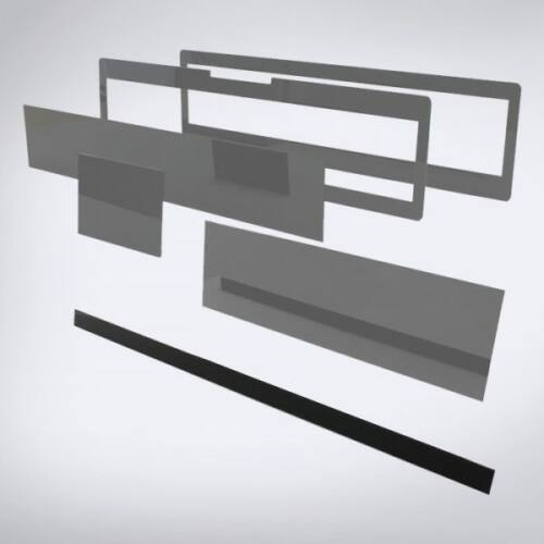 Speciális perspex lap lézeres jelzőkészülék rejtéshez: 765 mm x 30 mm