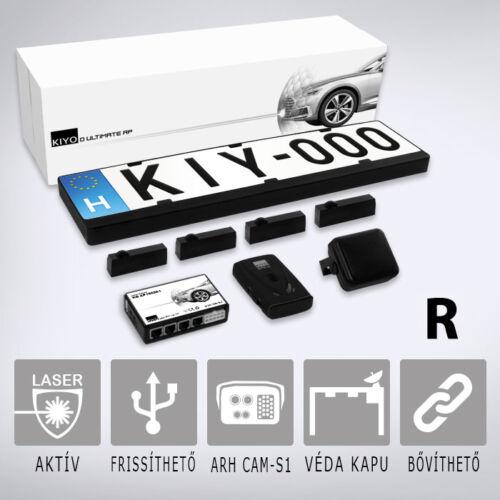 KIYO ULTIMATE AP 4R GPS: Komplett traffipaxvédelmi rendszer 4db rendszámkertbe építhető lézerszenzorral, GPS adatbázissal, dupla kerettel.