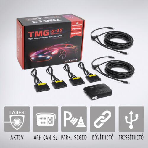 TMG Alpha15-4: Aktív lézeres traffipaxvédelmi termék 4db szenzorral akár távolságtartós autók első védelmére