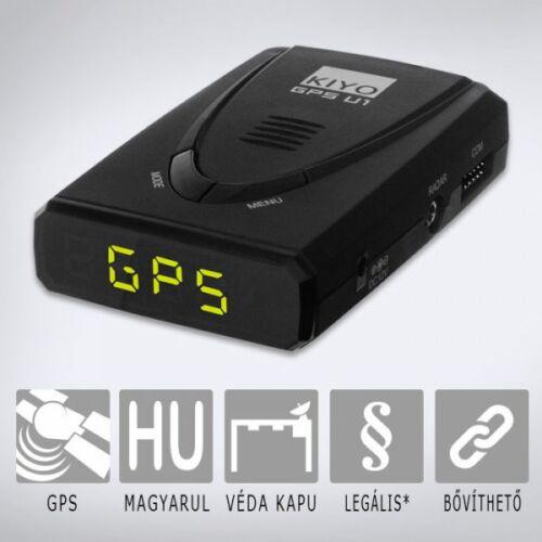 KIYO GPS U1: Telepített traffipax előrejelző teljes Európa adatbázissal, magyar nyelvű beszédhanggal.