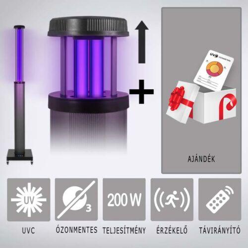 UV2CLEAN Pro200 UV-C germicid lámpa 200W + Ajándék doziméter